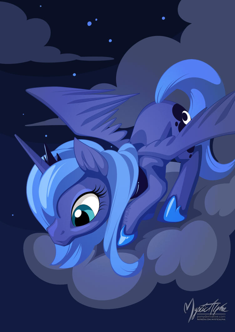 Luna on Cloud 3 by mysticalpha