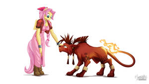 Flutteris and Red XIII