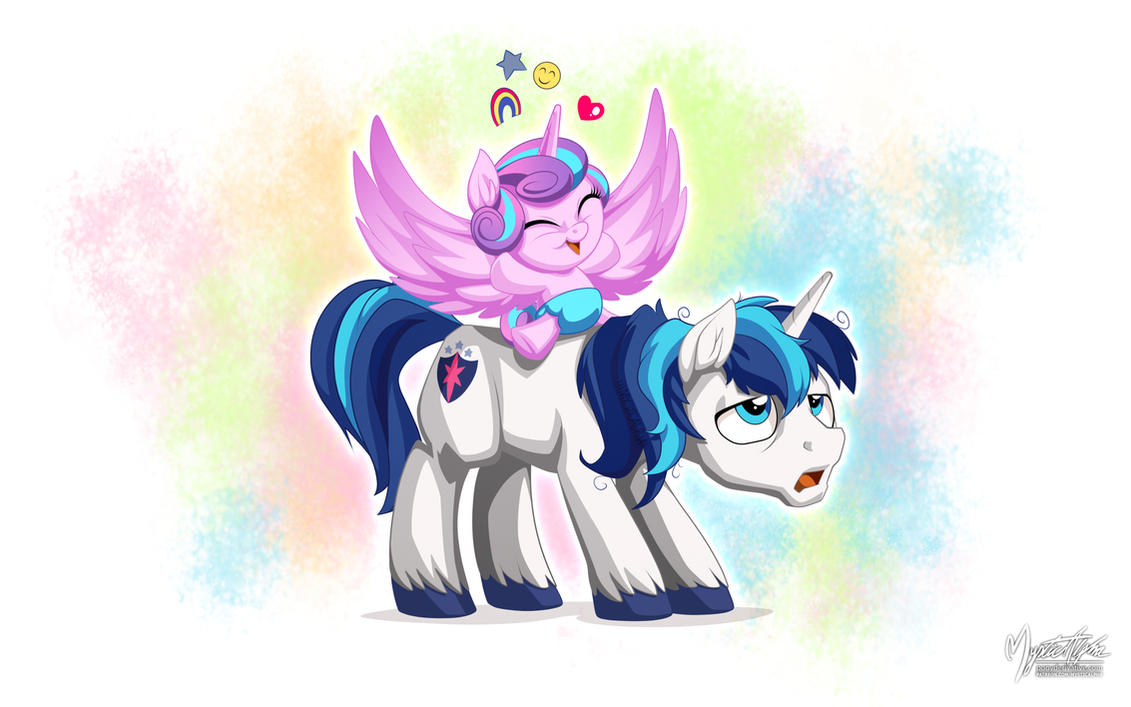 Shining Armor and Flurry Heart