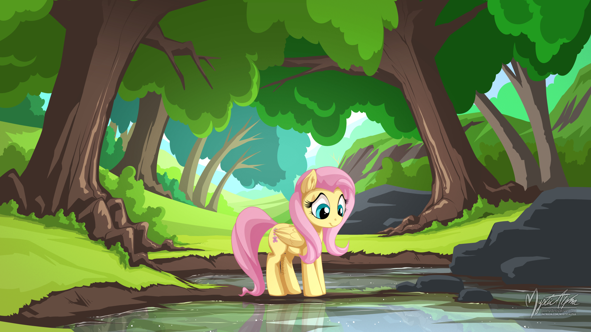 Tree Pond with Fluttershy