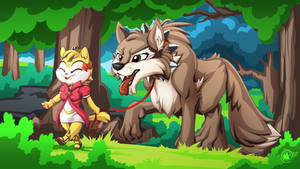 Catgirl and Wolfie