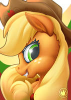 Applejack Portrait by mysticalpha