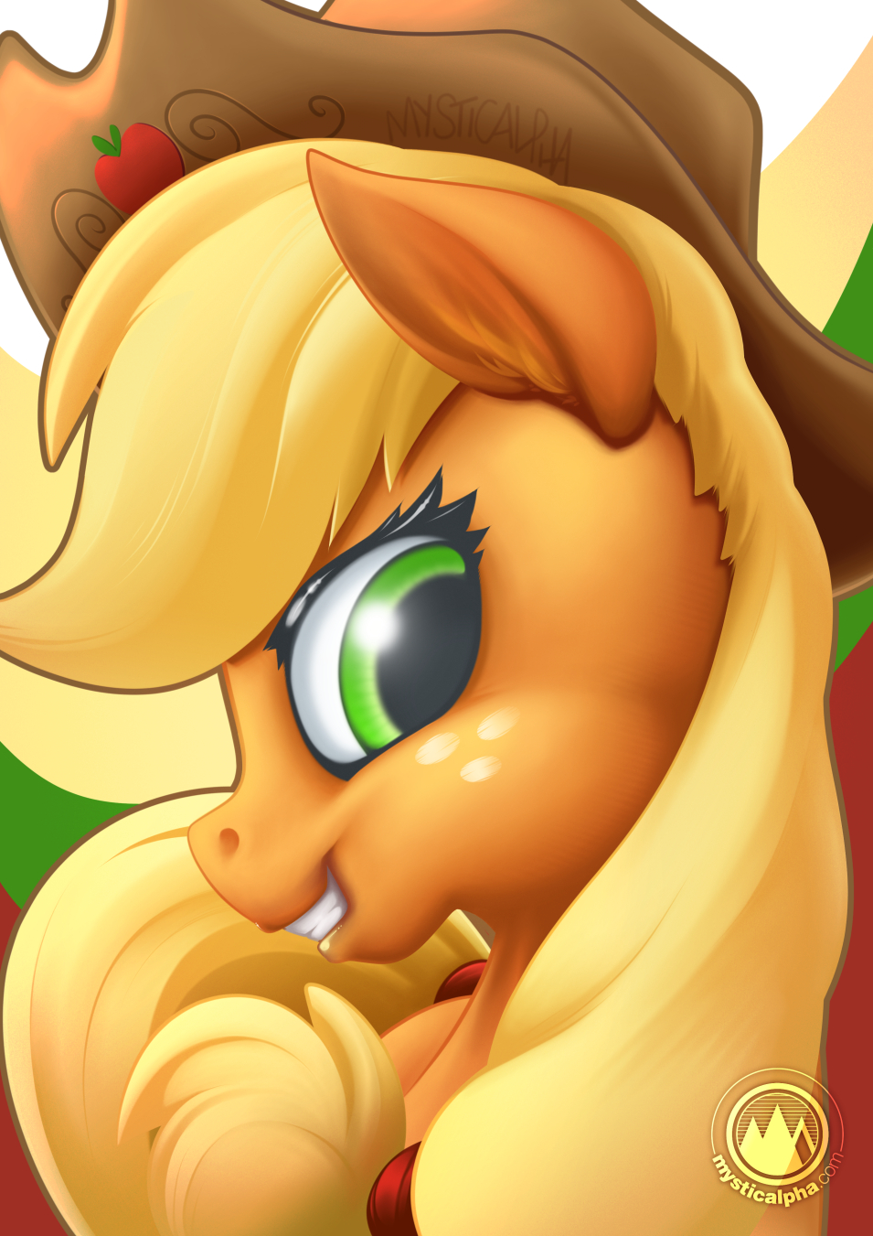 Applejack Portrait by mysticalpha