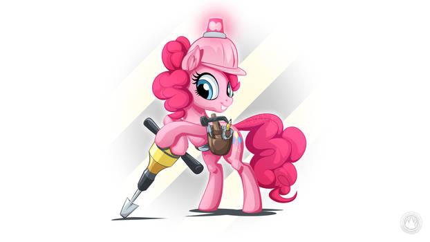Jackhammer Pinkie by mysticalpha