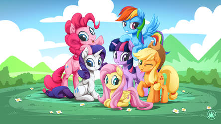 Mane 6 Intro Photo 4.0 by mysticalpha