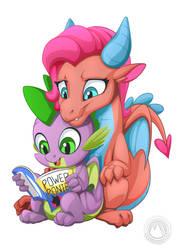 Mina and Spike by mysticalpha