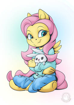 Fluttershy and Angel 4