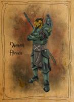Shamash Abraxis - DnD Dragonborn by SilkyNoire