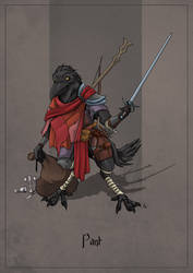 Pant the Kenku Rogue by SilkyNoire