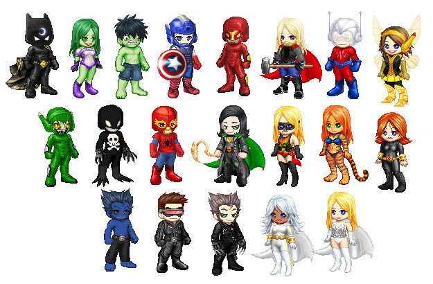 Marvel Heroes In Gaia Style By Sithvampiremaster27 On