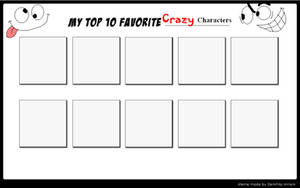 Top 10 Crazy Characters by SithVampireMaster27