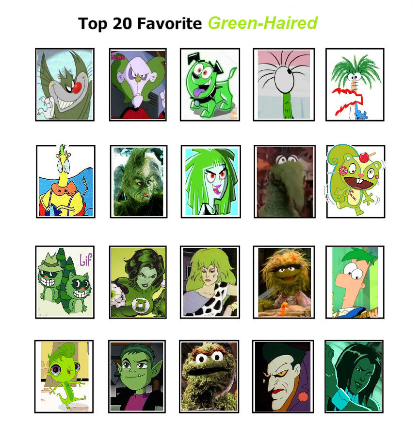Cartoon Characters Green : My top favorite green haired characters by