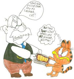 Mr. Grouse vs Garfield
