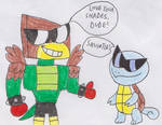 Hawkodile Digs Squirtle's Shades