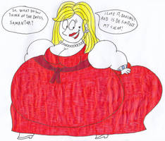 Fat Lady in a Red Dress