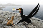 Ornithocheirus simus and chick