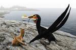 Ornithocheirus simus and chick