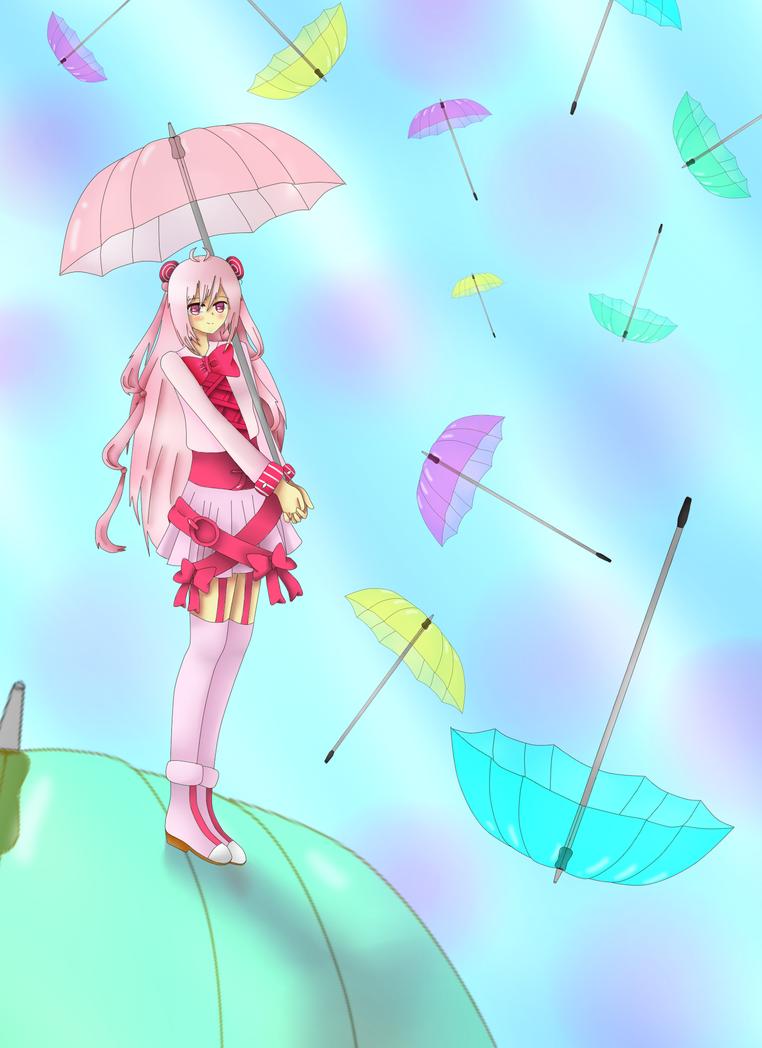 Re-do: Umbrella Rain by gggdw