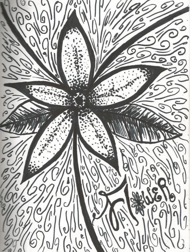 Sharpie Flower by rainbowjerry94 on deviantART Sharpie Art Flowers