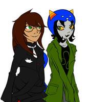 Jade and Nepeta by LeijonNepeta