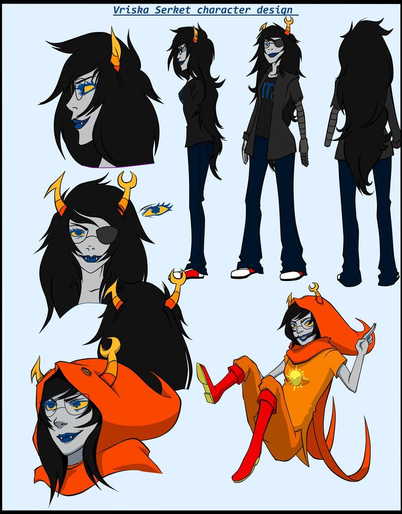 Vriska Serket character design Vriska Serket Sprite Gif