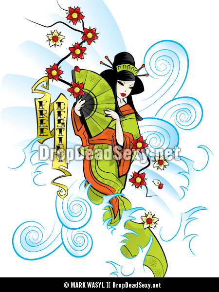 Geisha by markwasyl