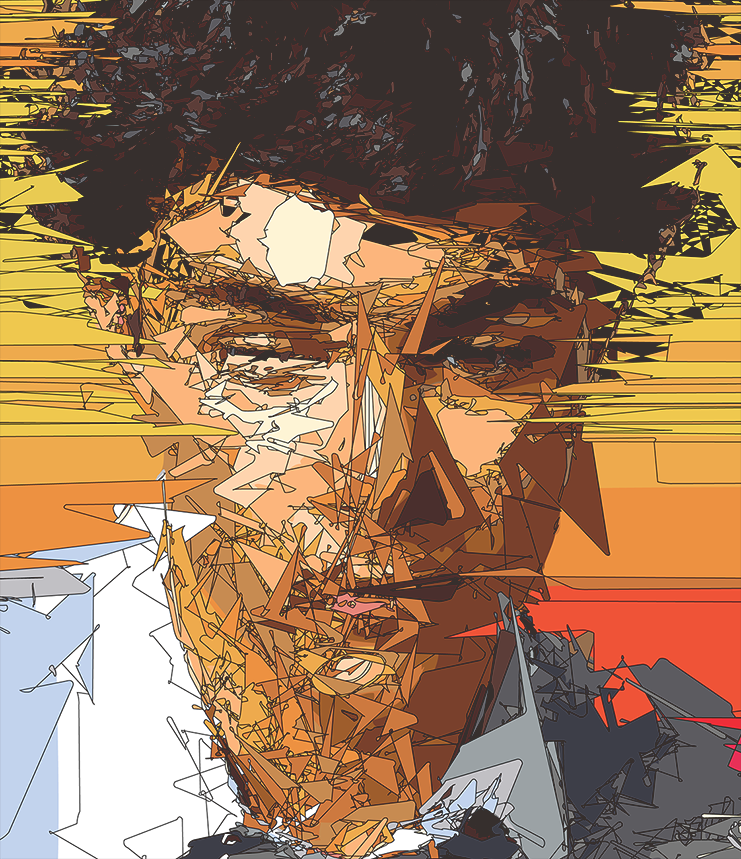 Abstract Vector Portrait 2 by thePixelpunch
