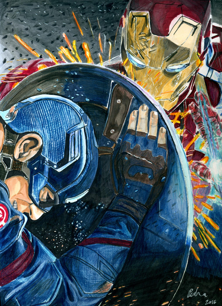 Captain America: Civil war by kleopetra007