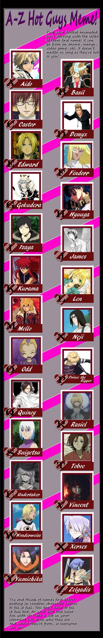 Hot Anime Guys Meme by OndineNova