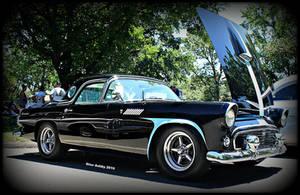 Her Hot Rod Thunderbird