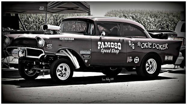 57 Chevy Gasser Bw