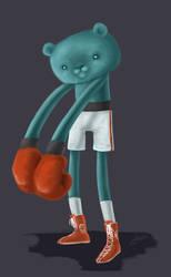 Bear is Boxing by Belruel