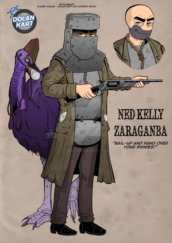 Ned Kelly Zaraganba - Dolan Kart Contest Entry by LeoMitchell