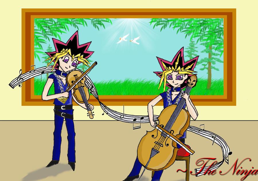 Music Themed Yugi and Yami by ninja-starz2