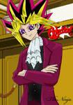 Yami Yugi cosplays Edgworth