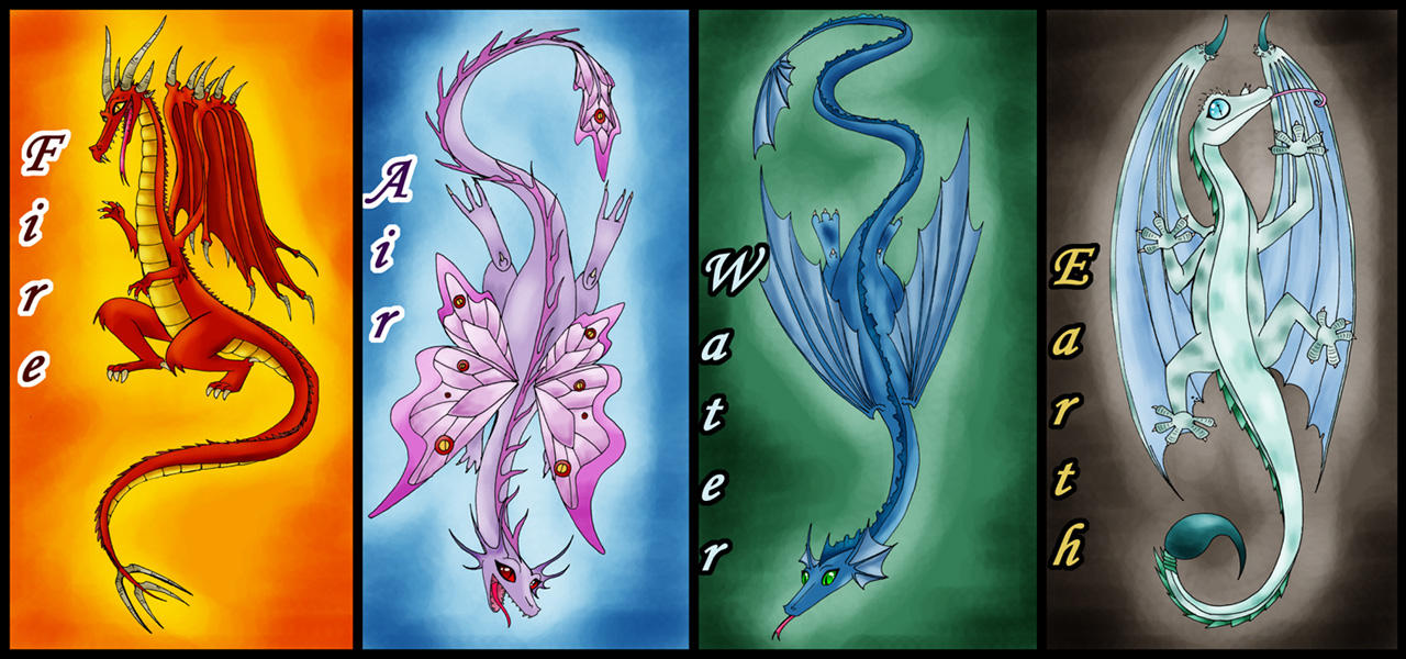 Dragons Of The Elements By Kyetxian On DeviantArt