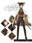 [ CLOSE ] Black-Gold Swordman Adoptable