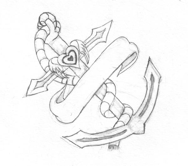 Faith Hope Charity Tattoo Designs Anchor by half dragoness