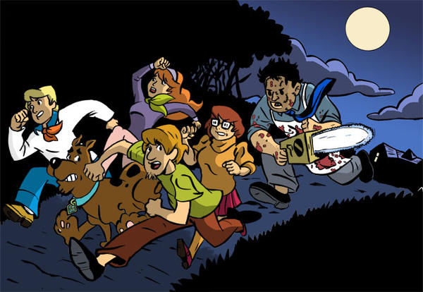 Scooby Doo Chainsaw Massacre by BingoGasStation