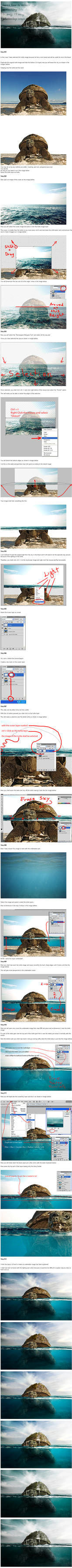 Under Water Easy Photoshop Tutorial by PSHoudini