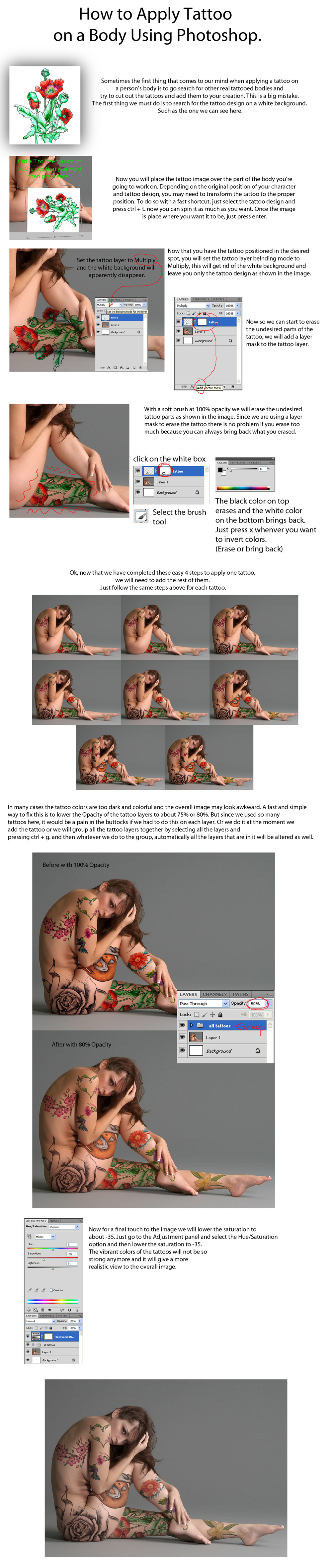 Apply Tattoo with Photoshop - TUTORIAL