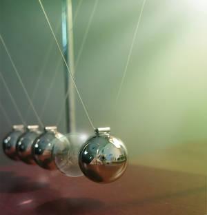 Newton's Bubble Cradle