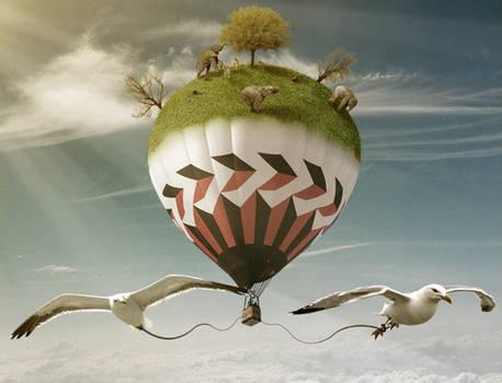 Surreal Hot Air Ballon