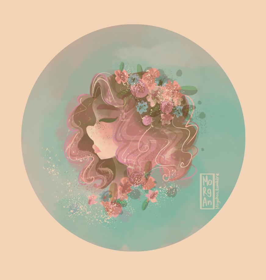 Flower Crown by morgansketch