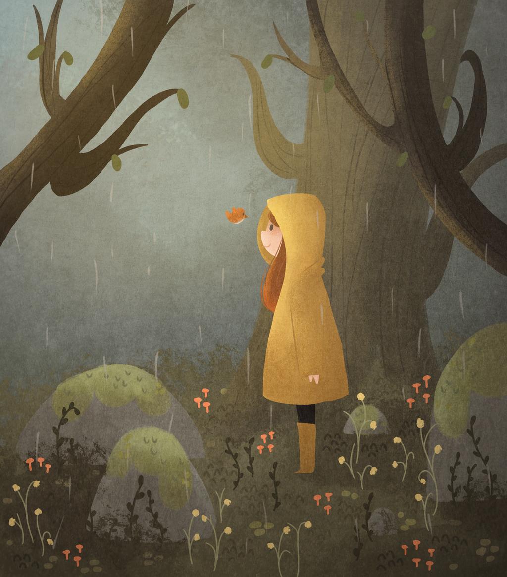 Rain by morgansketch