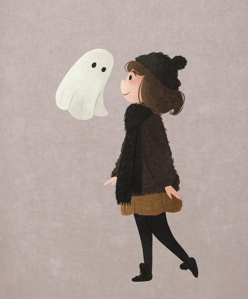 Ghost by morgansketch