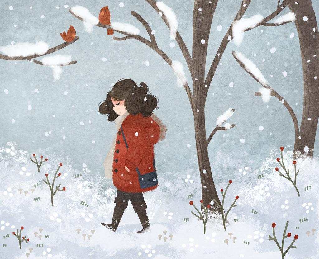 Snowfall by morgansketch