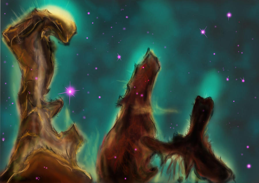 hubble backgrounds pillars of creation - photo #19