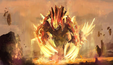 Groudon-  The continent maker by StargazerRJL