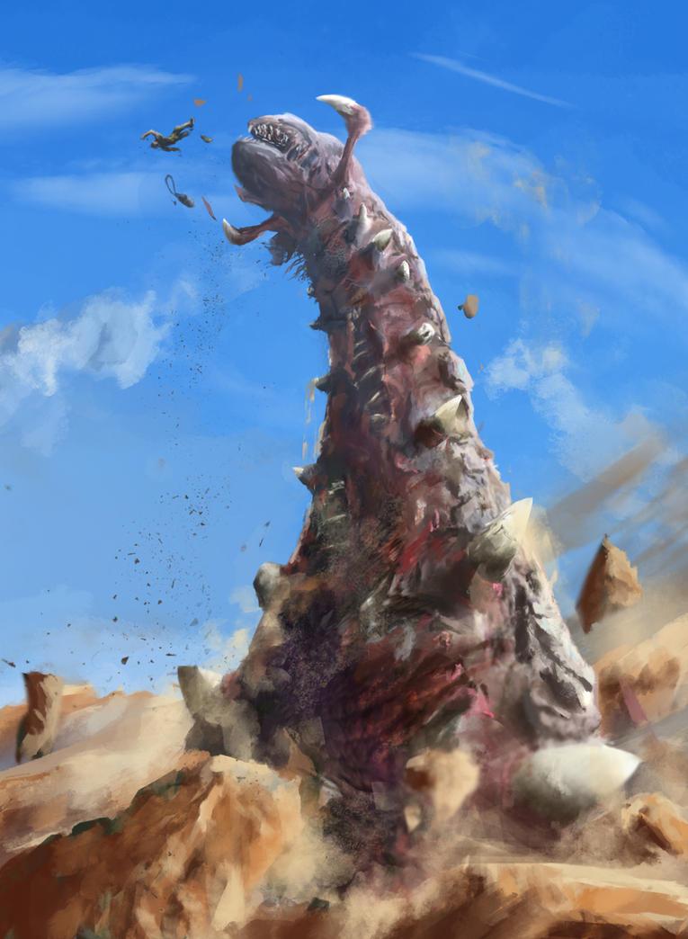 Mongolian Death Worm by StargazerRJL